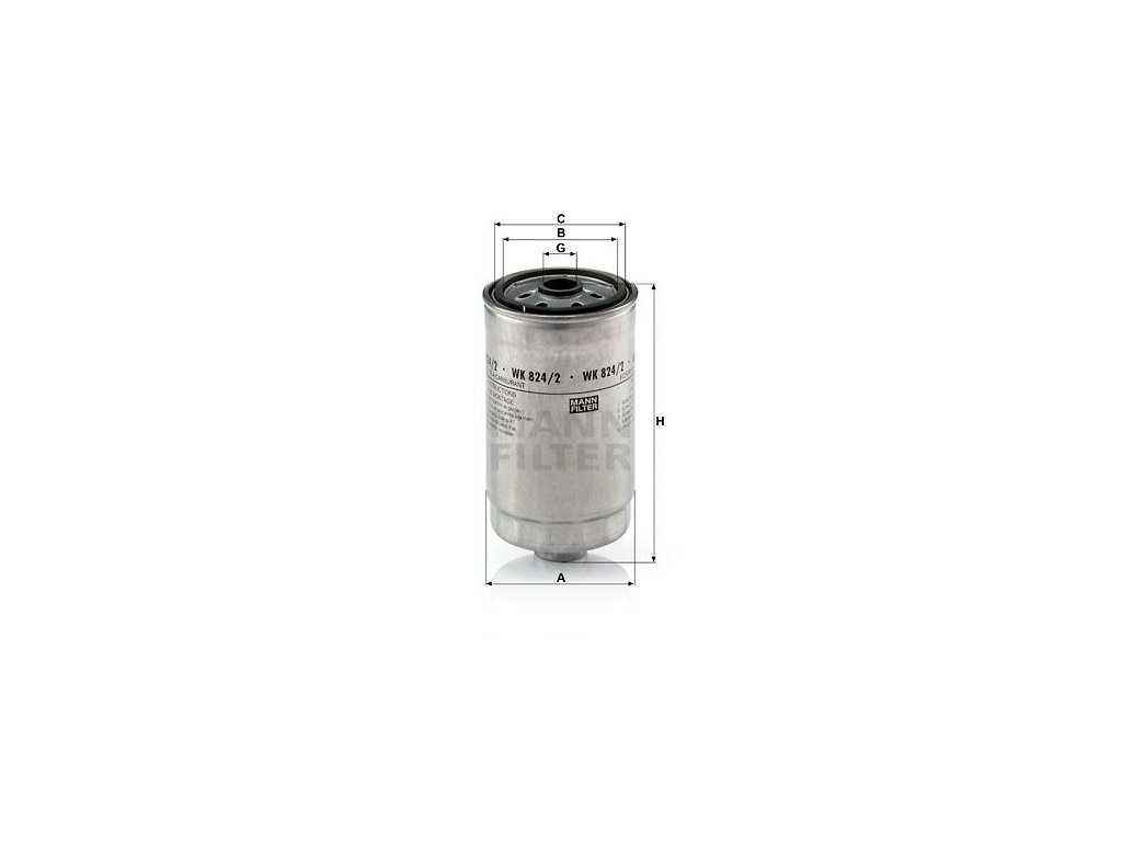 Palivový filtr MANN-FILTER WK 824/2