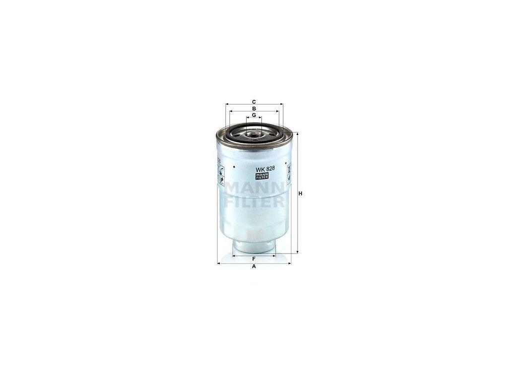 Palivový filtr MANN-FILTER WK 828 x
