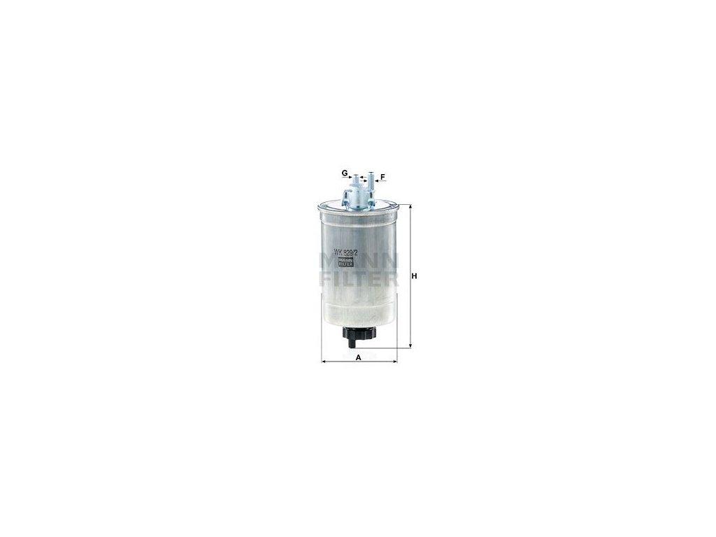Palivový filtr MANN-FILTER WK 829/2