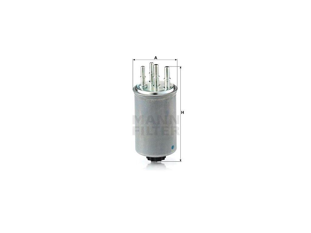 Palivový filtr MANN-FILTER WK 829/4