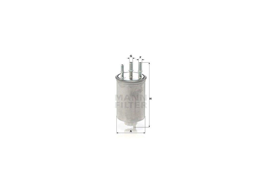 Palivový filtr MANN-FILTER WK 829/6