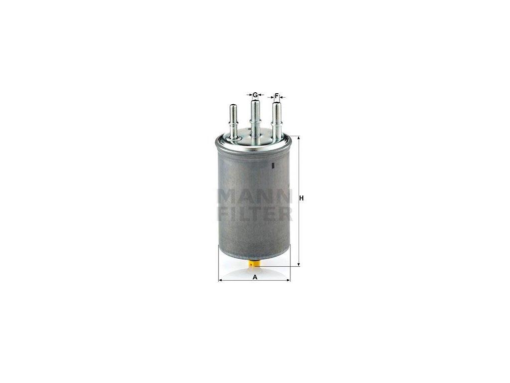 Palivový filtr MANN-FILTER WK 829/7