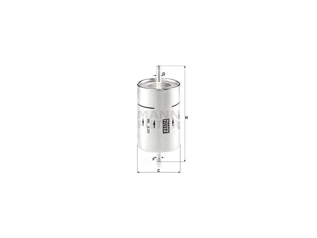 Palivový filtr MANN-FILTER WK 830