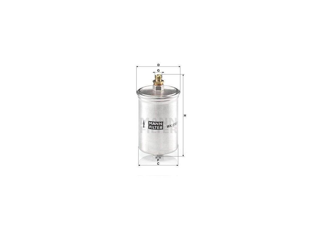 Palivový filtr MANN-FILTER WK 830/3