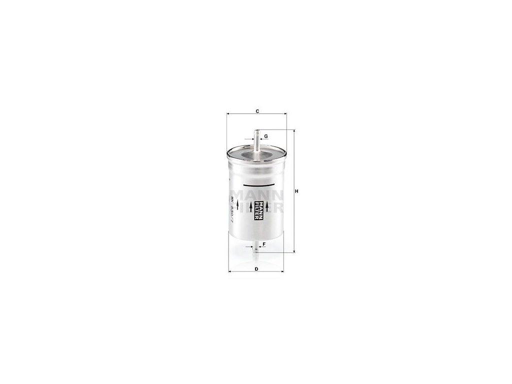 Palivový filtr MANN-FILTER WK 830/7