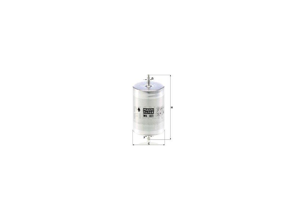 Palivový filtr MANN-FILTER WK 831