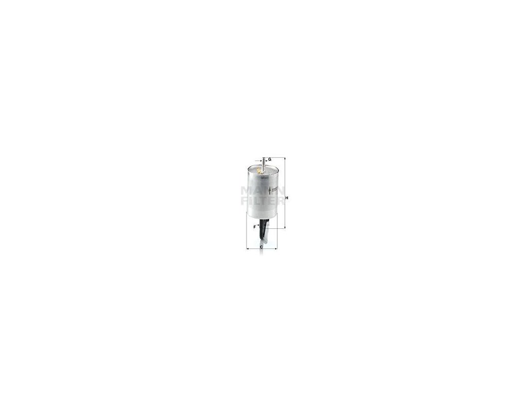 Palivový filtr MANN-FILTER WK 832/1