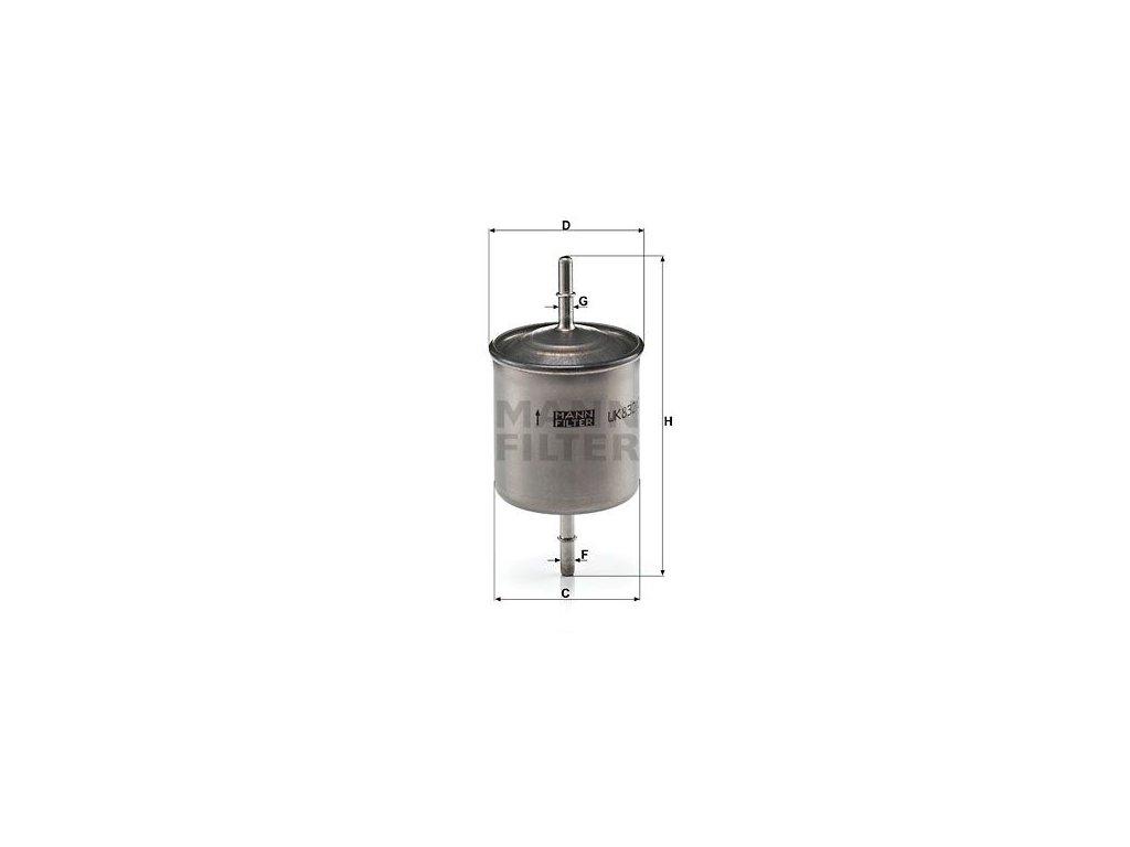 Palivový filtr MANN-FILTER WK 832/2
