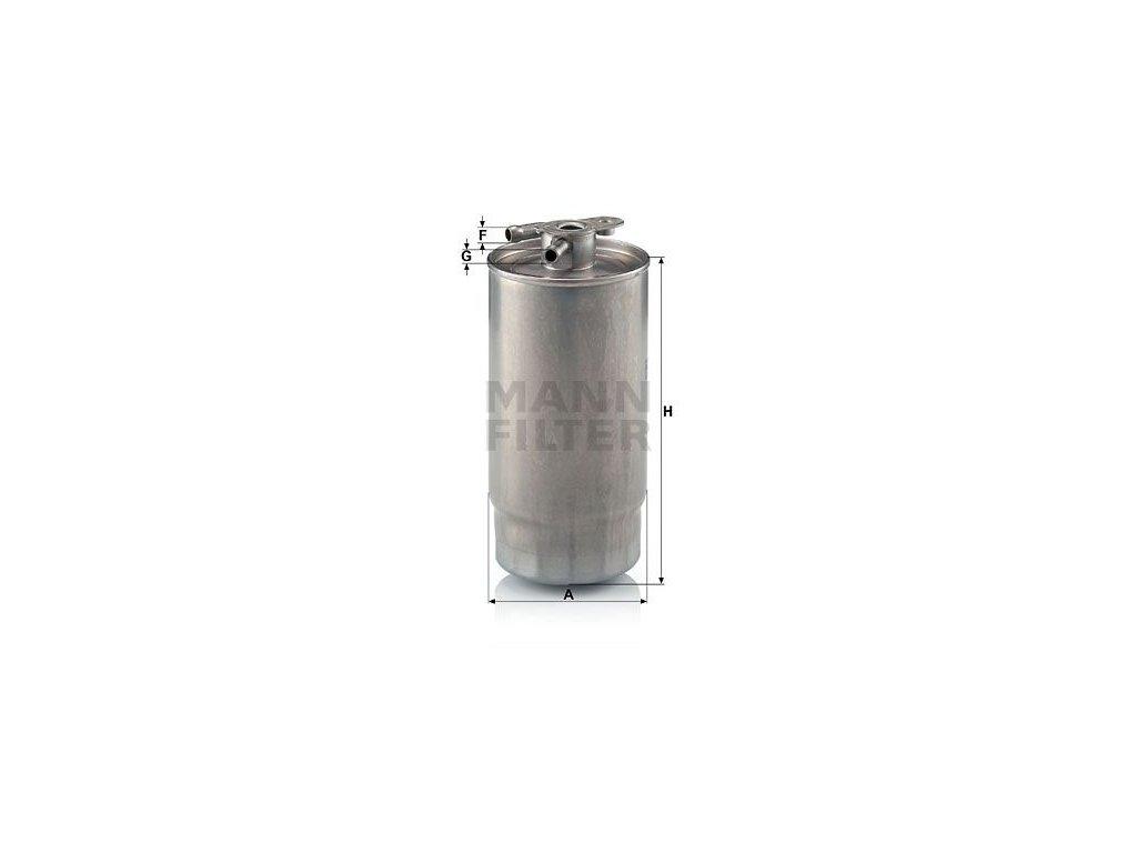 Palivový filtr MANN-FILTER WK 841/1