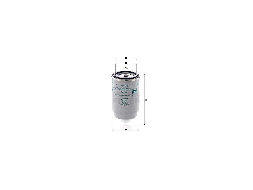 Palivový filtr MANN-FILTER WK 842
