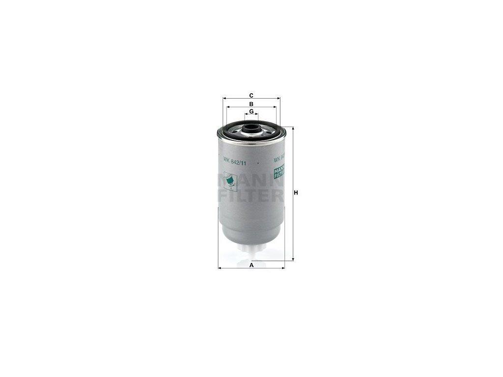 Palivový filtr MANN-FILTER WK 842/11