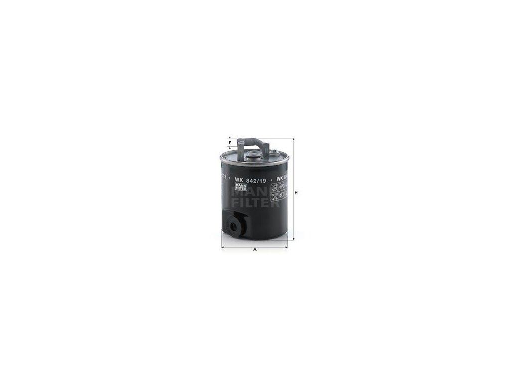 Palivový filtr MANN-FILTER WK 842/19