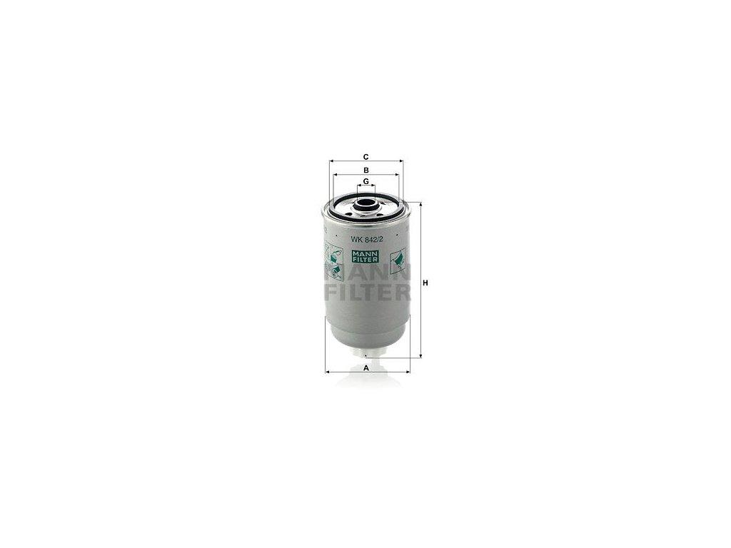 Palivový filtr MANN-FILTER WK 842/2