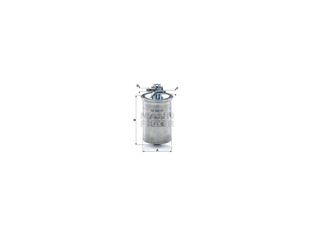 Palivový filtr MANN-FILTER WK 842/21 x
