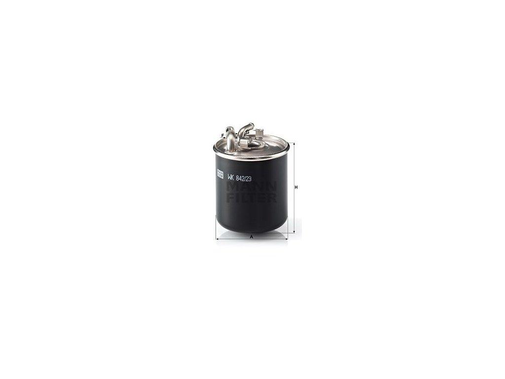Palivový filtr MANN-FILTER WK 842/23 x