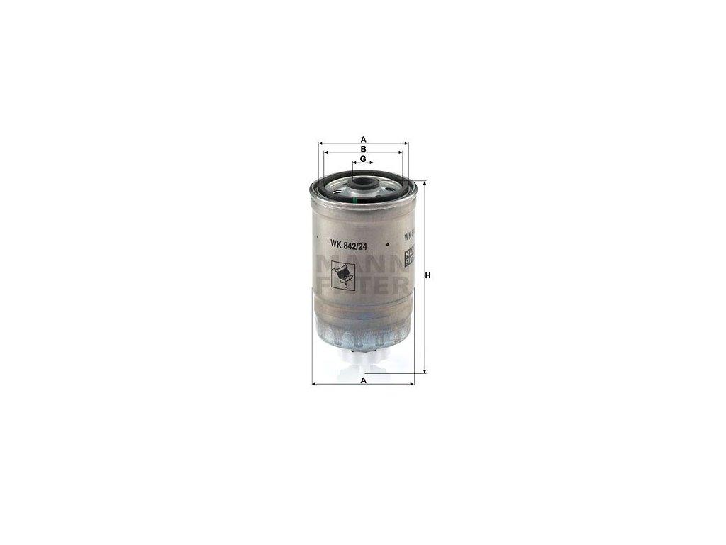 Palivový filtr MANN-FILTER WK 842/24