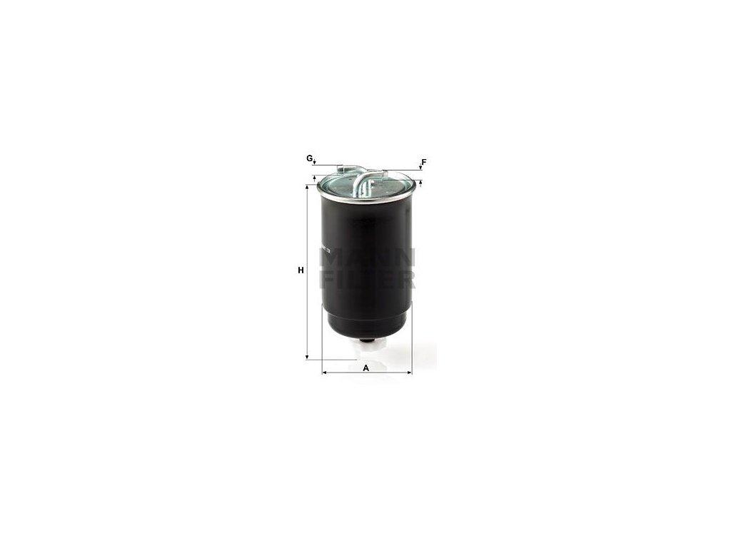 Palivový filtr MANN-FILTER WK 842/3