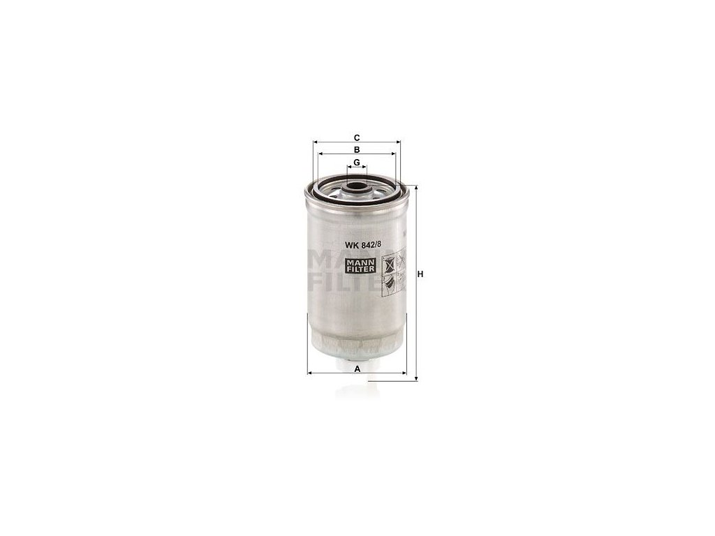 Palivový filtr MANN-FILTER WK 842/8