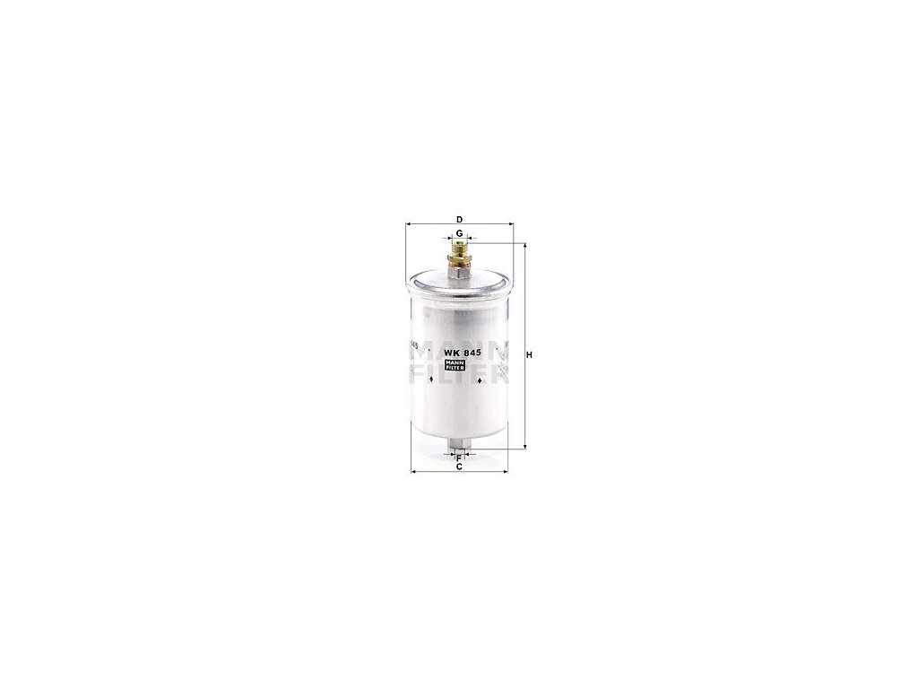 Palivový filtr MANN-FILTER WK 845