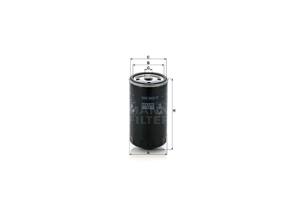 Palivový filtr MANN-FILTER WK 845/6