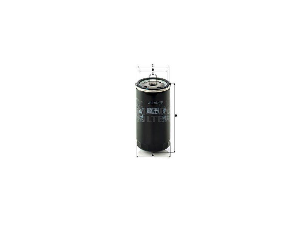Palivový filtr MANN-FILTER WK 845/8