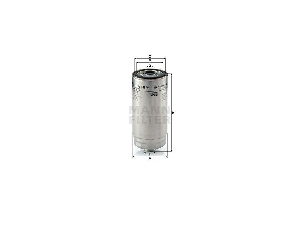 Palivový filtr MANN-FILTER WK 845/9