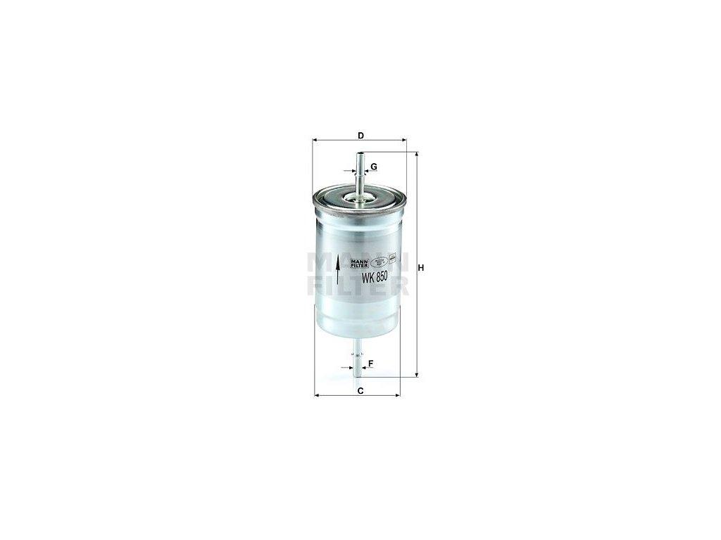 Palivový filtr MANN-FILTER WK 850