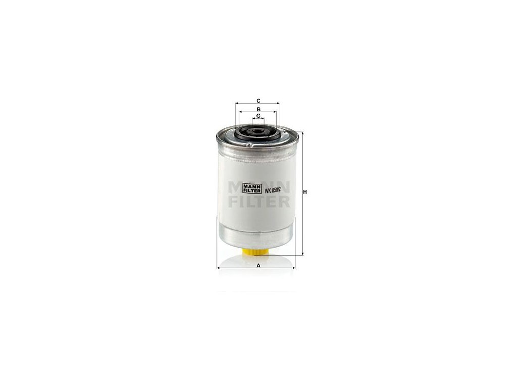 Palivový filtr MANN-FILTER WK 850/2