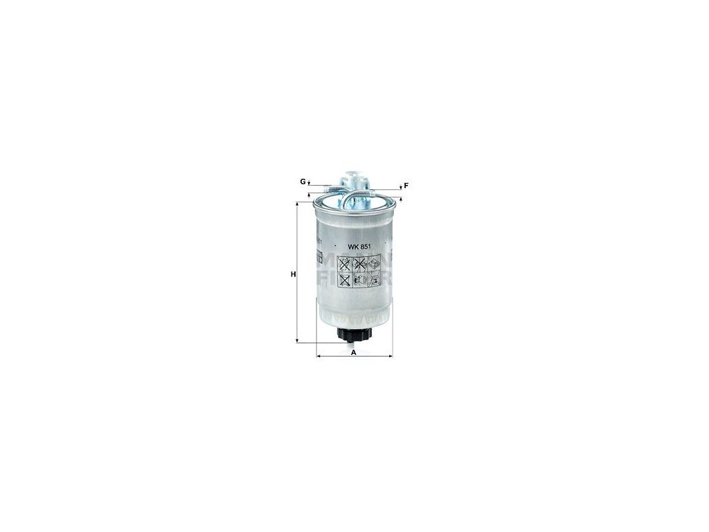 Palivový filtr MANN-FILTER WK 851
