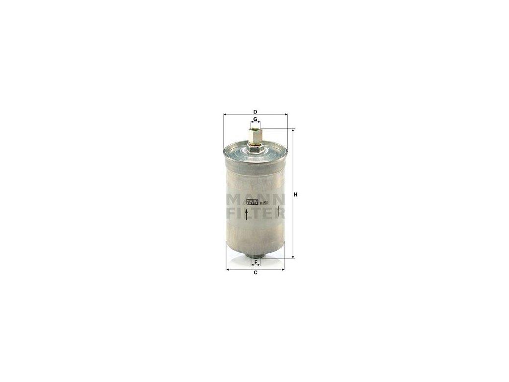 Palivový filtr MANN-FILTER WK 853/1