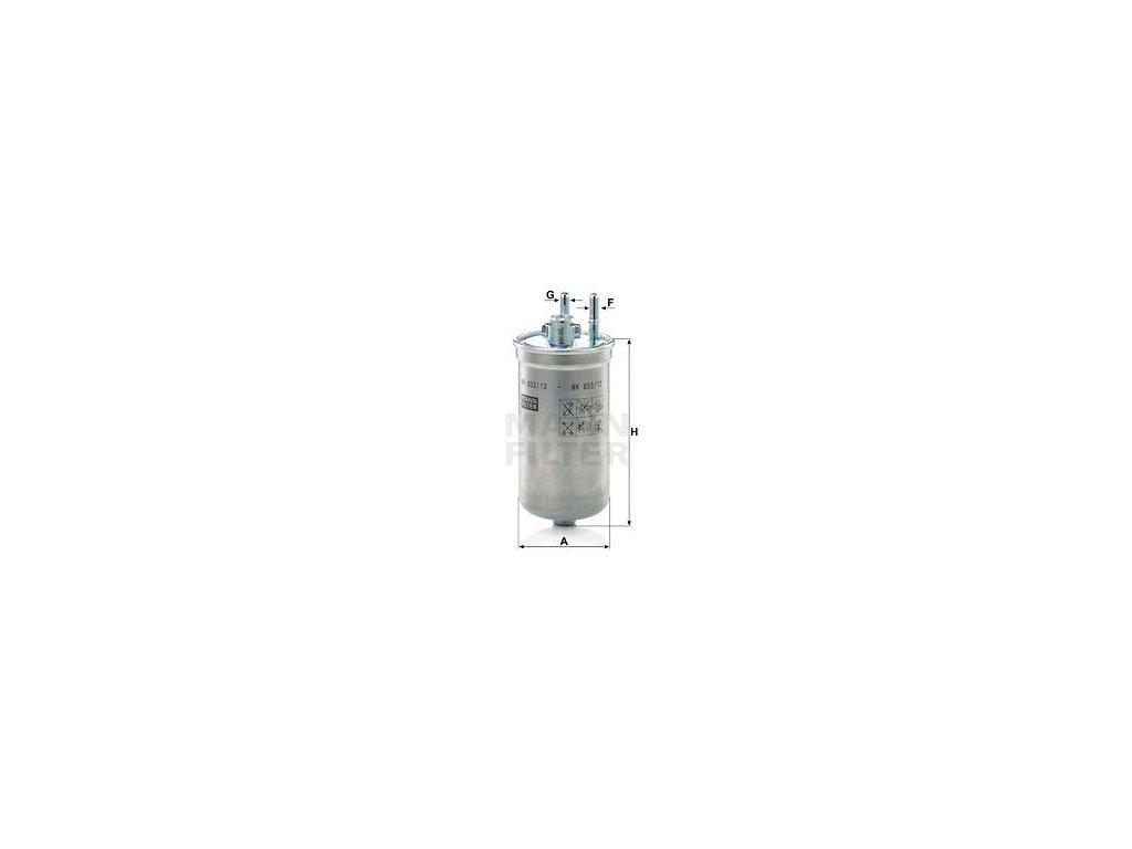 Palivový filtr MANN-FILTER WK 853/13