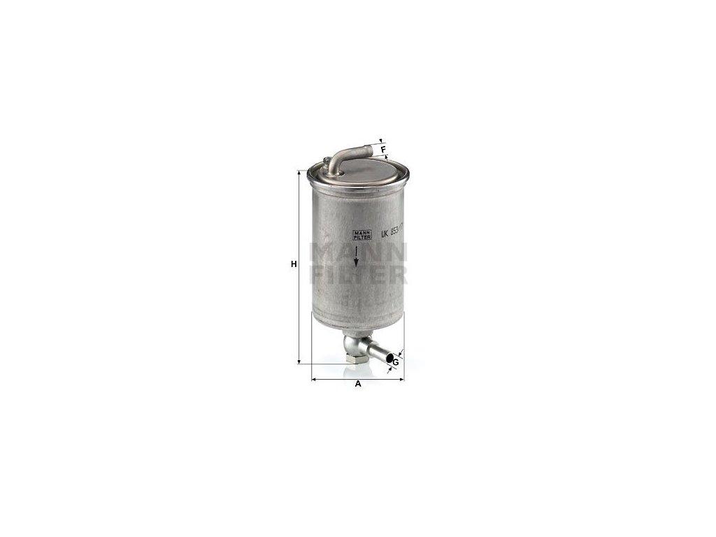 Palivový filtr MANN-FILTER WK 853/17