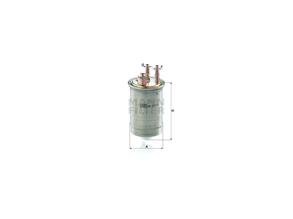 Palivový filtr MANN-FILTER WK 853/18