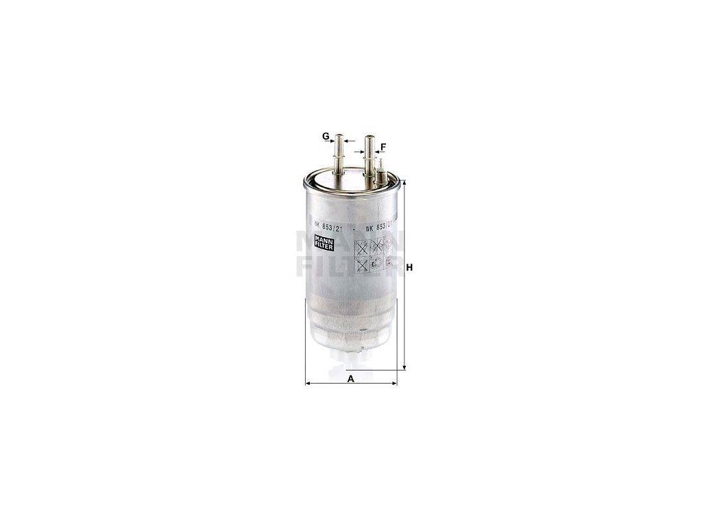Palivový filtr MANN-FILTER WK 853/21