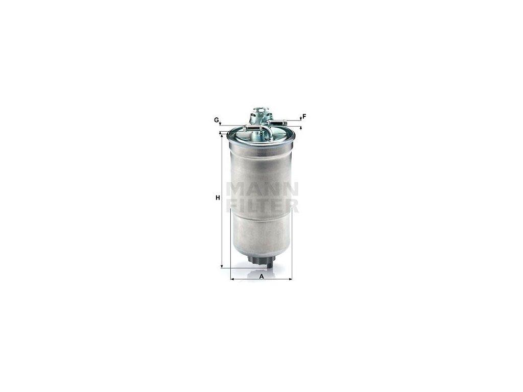 Palivový filtr MANN-FILTER WK 853/3 x