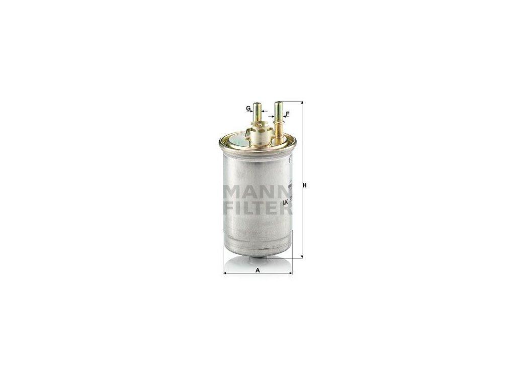 Palivový filtr MANN-FILTER WK 853/7