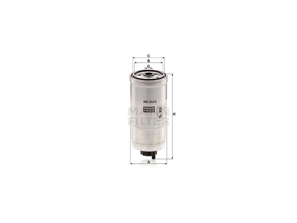 Palivový filtr MANN-FILTER WK 853/8