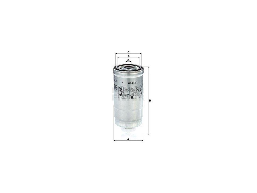 Palivový filtr MANN-FILTER WK 854/1
