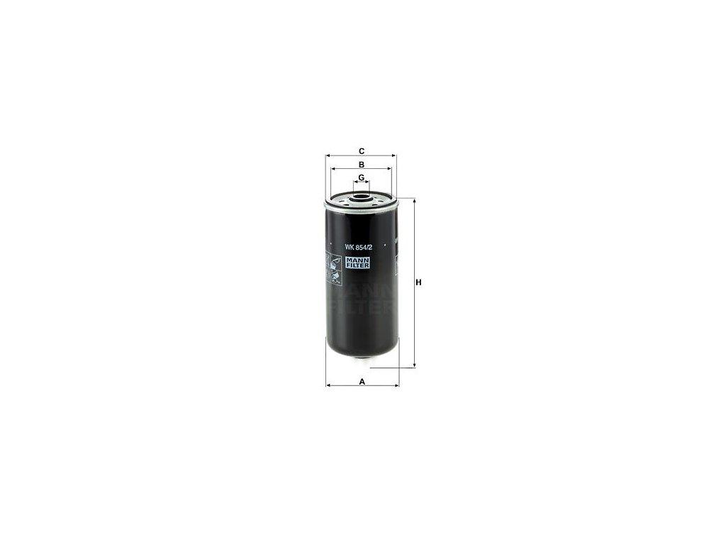 Palivový filtr MANN-FILTER WK 854/2