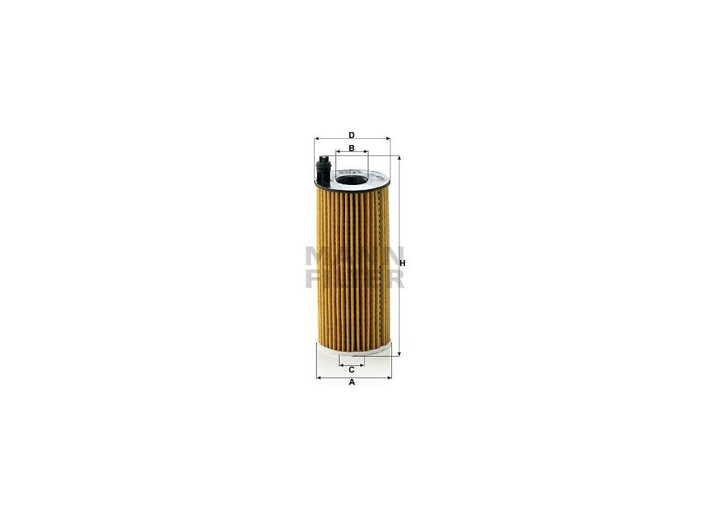 Olejový filtr MANN-FILTER HU 6004 x