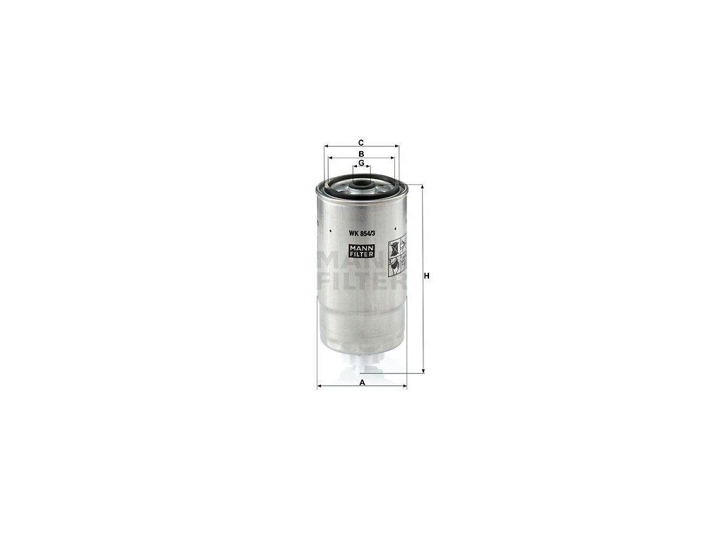 Palivový filtr MANN-FILTER WK 854/3