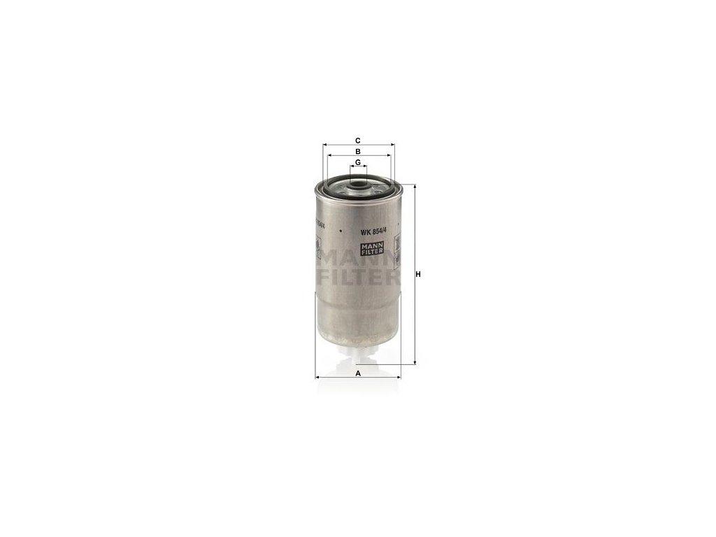 Palivový filtr MANN-FILTER WK 854/4