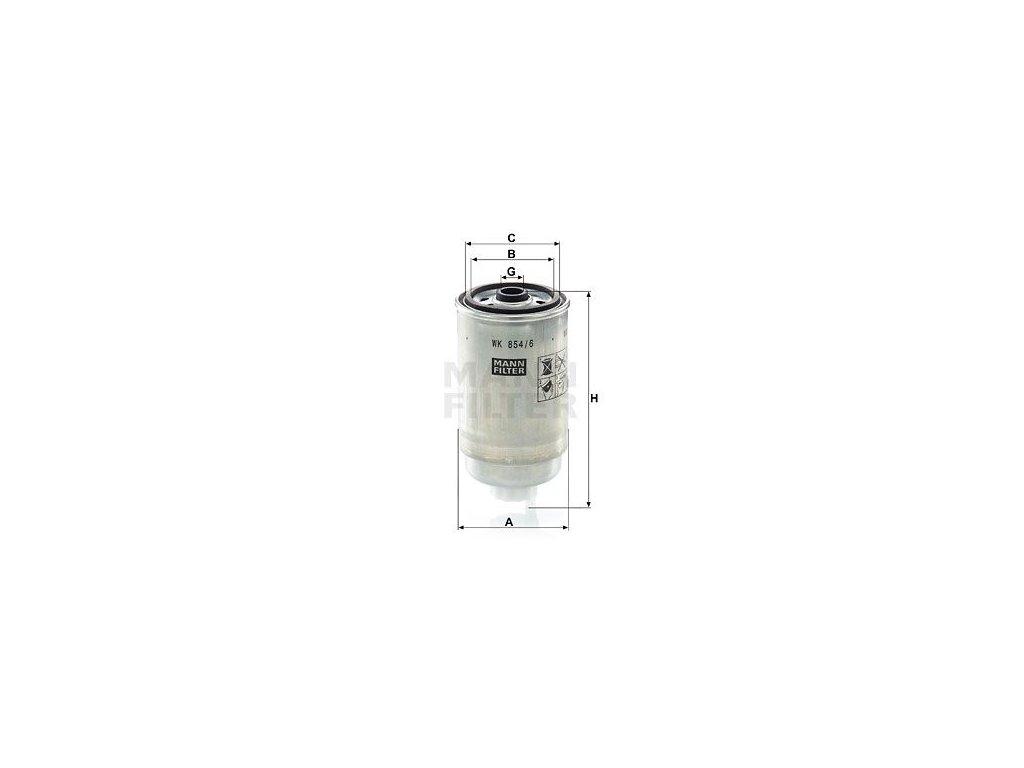 Palivový filtr MANN-FILTER WK 854/6