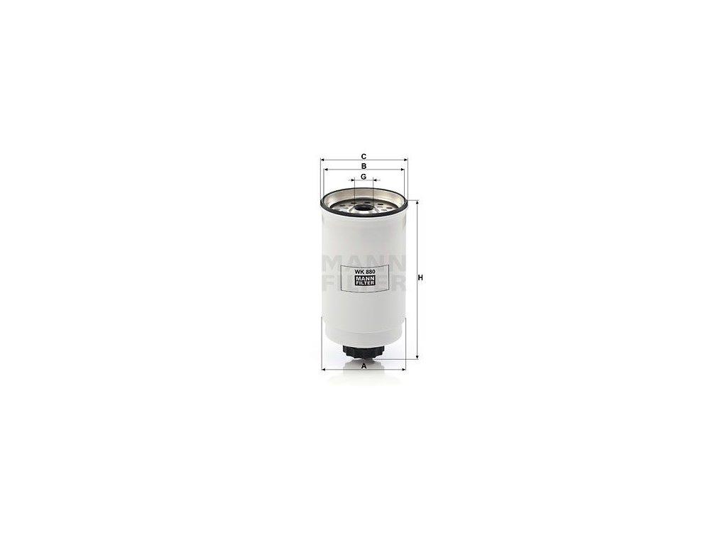 Palivový filtr MANN-FILTER WK 880