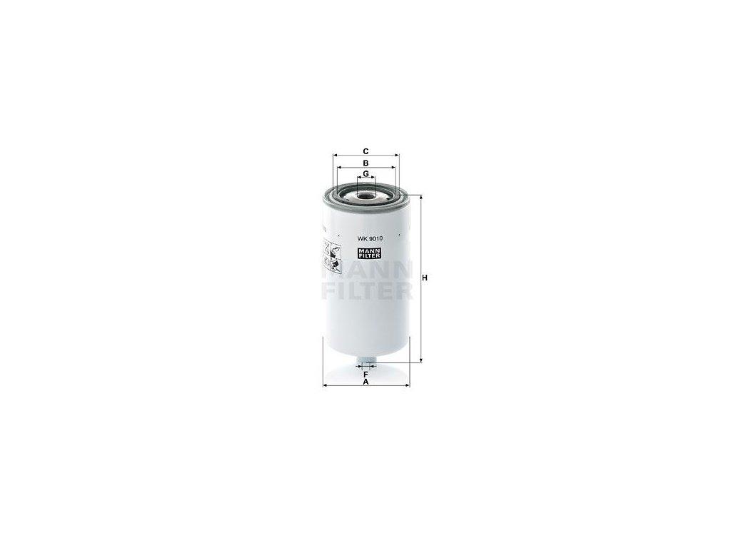 Palivový filtr MANN-FILTER WK 9010