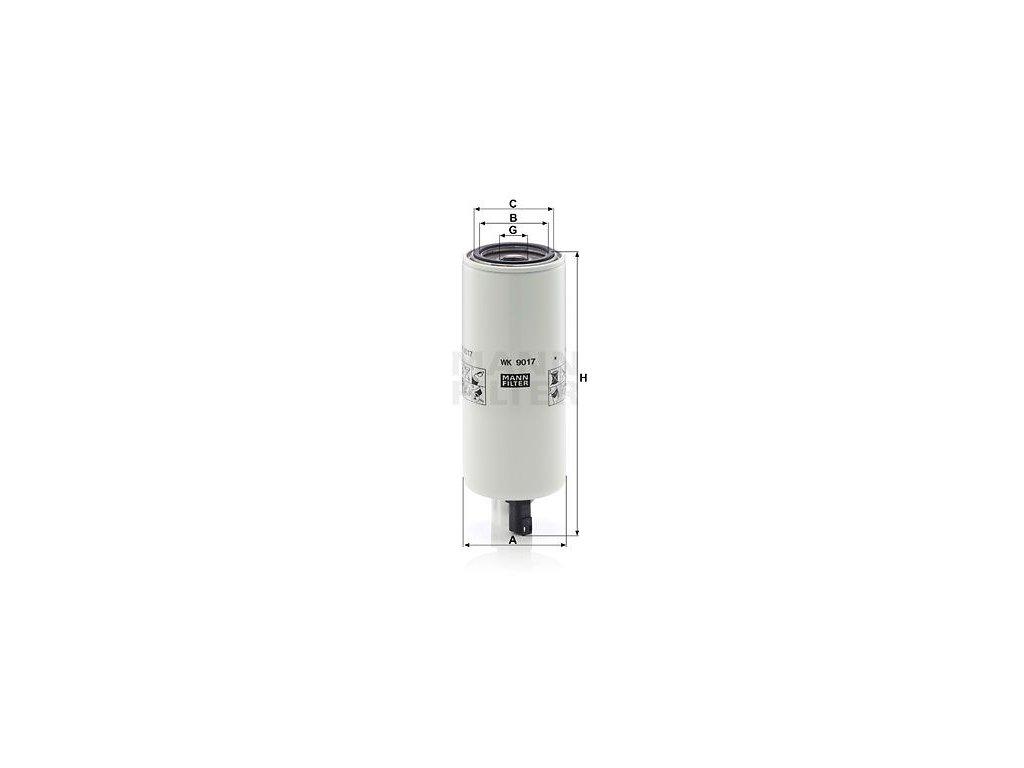 Palivový filtr MANN-FILTER WK 9017 x