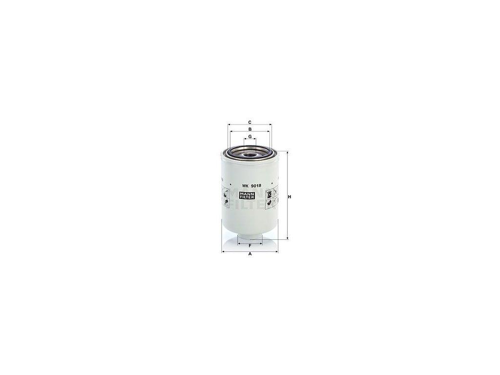 Palivový filtr MANN-FILTER WK 9018 x