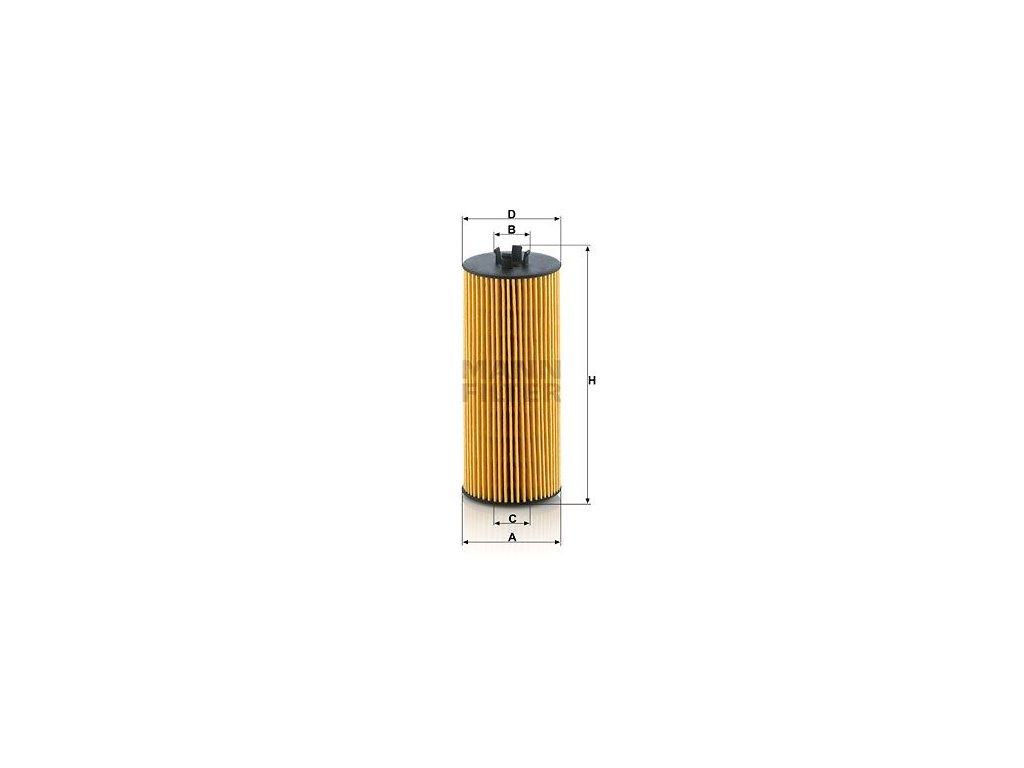 Olejový filtr MANN-FILTER HU 6008 z