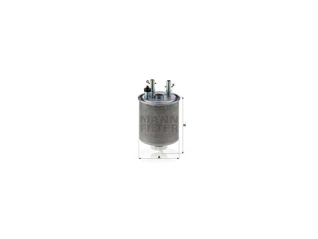 Palivový filtr MANN-FILTER WK 918/1