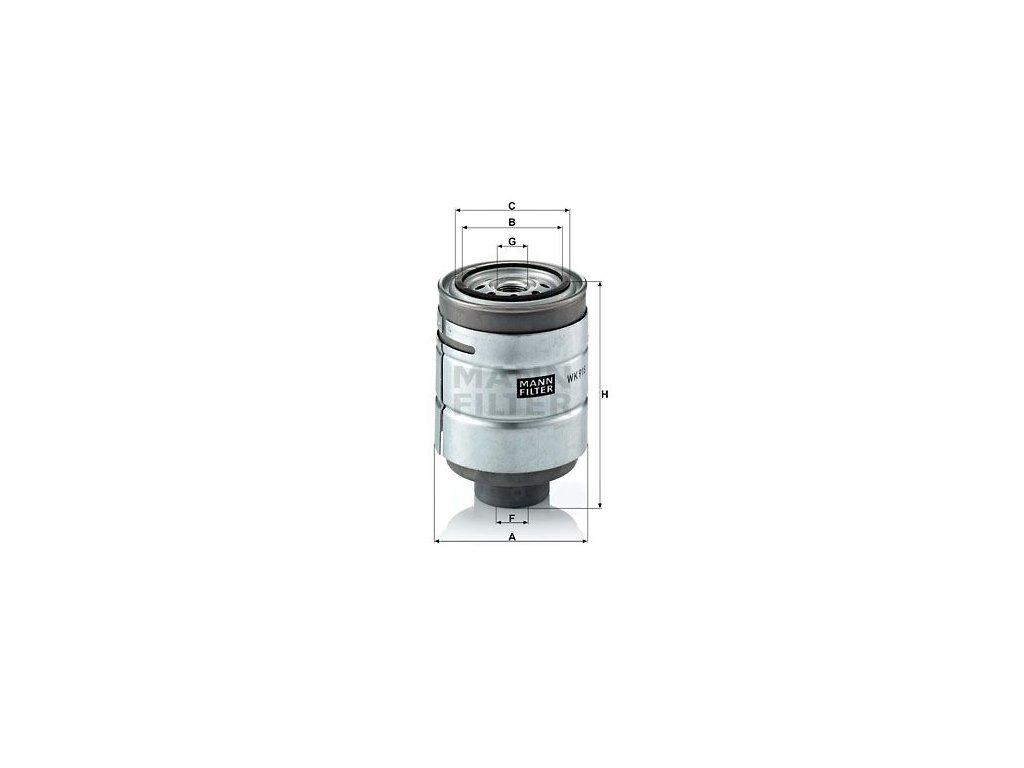 Palivový filtr MANN-FILTER WK 918 x